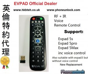 Evpad5 Replacement Ai Voice + IR Remote Control support Evpad5 and older Evpad
