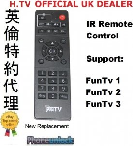 FUNTV BOX Tv Box Replacement IR Remote Control support Funtv3 Funtv2 Funtv1